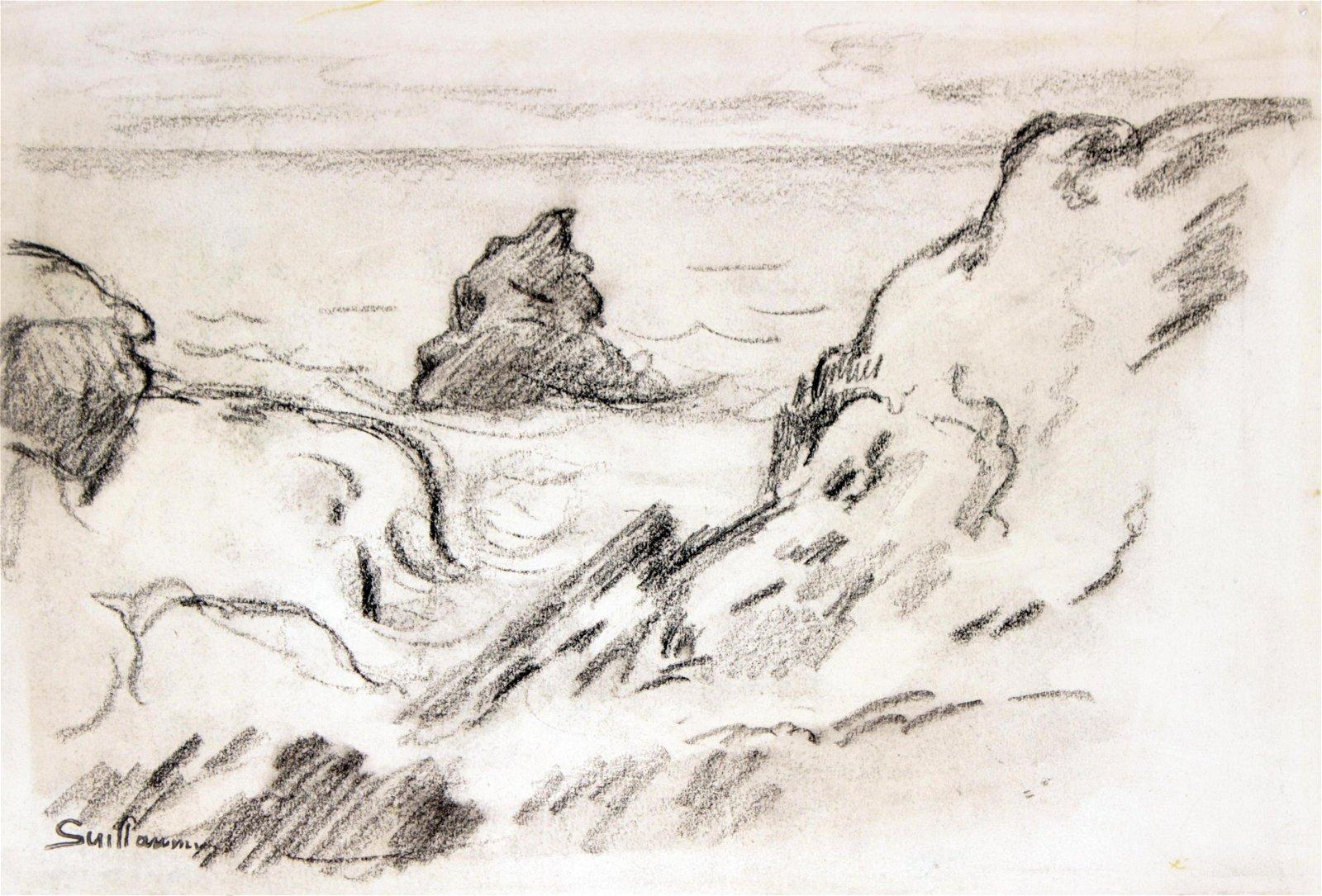 Armand Guillaumin - Original Charcoal Sketch