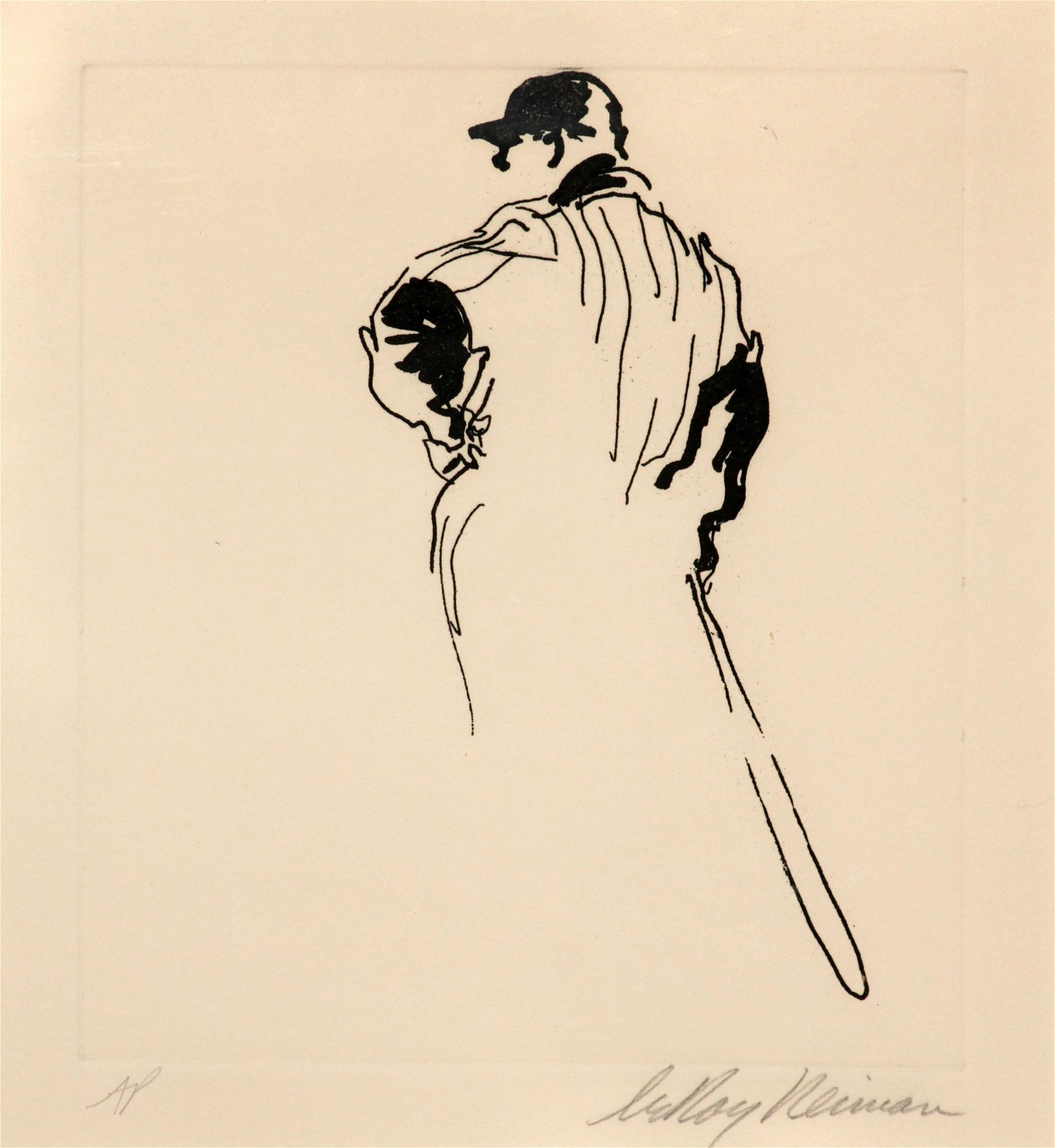 """LeRoy Neiman - Awaiting the Decision from """"Baseball"""