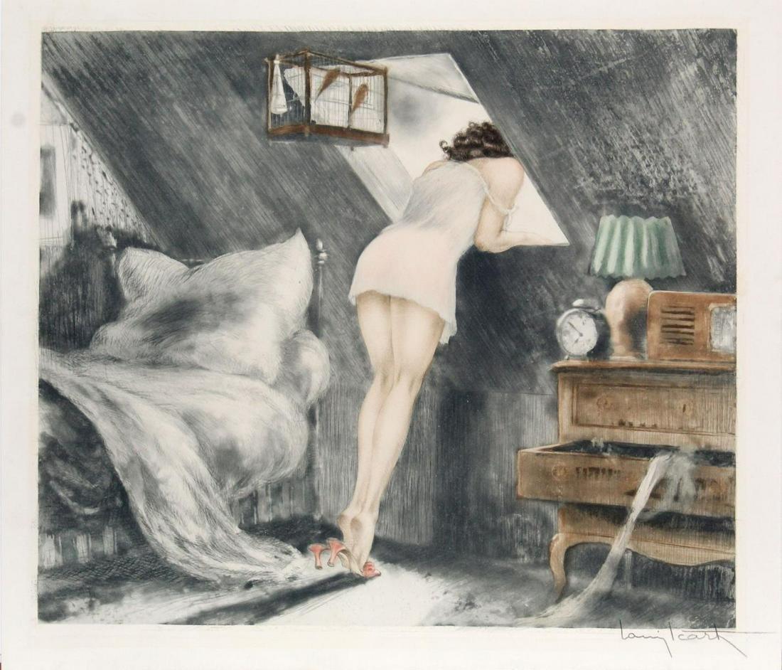 Louis Icart - Attic Room