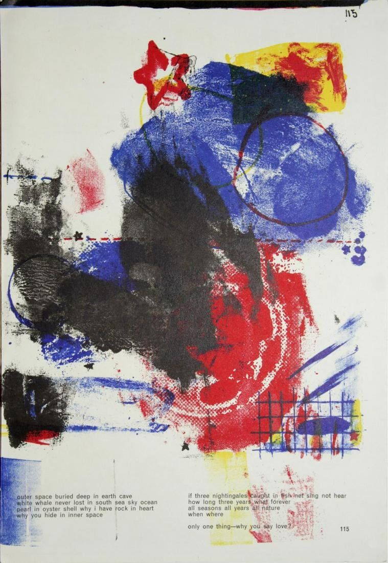"Robert Rauschenberg - ""Untitled"" from One Cent Life"