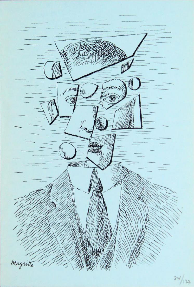 Rene Magritte (After) - Untitled (Portrait)