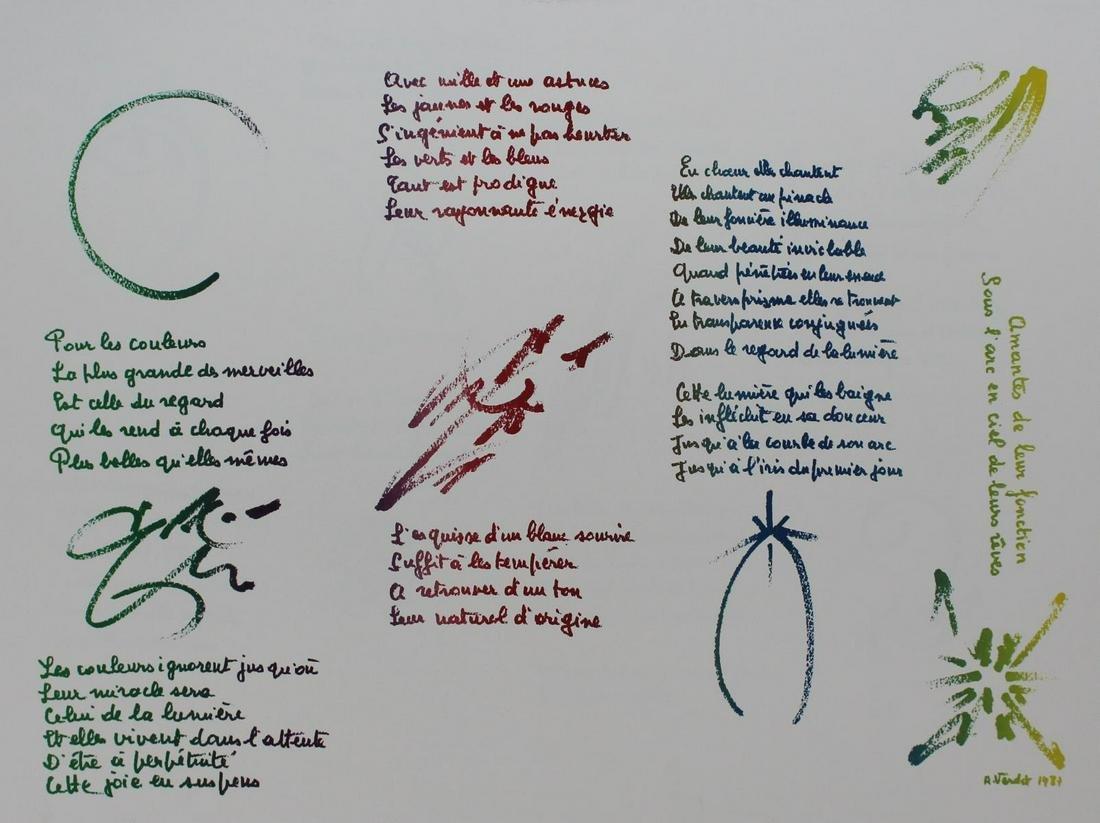"""Andre Verdet - Untitled  from """"Euphories de la Couleur"""""""