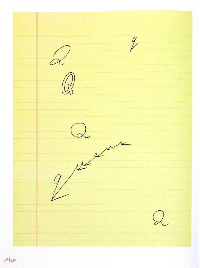 """David Hockney - Letter Q from """"Hockney"""