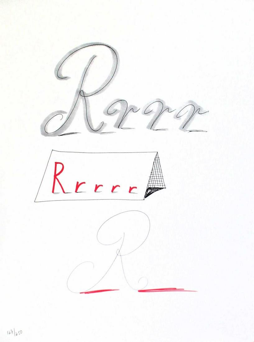 """David Hockney - Letter R from """"Hockney"""