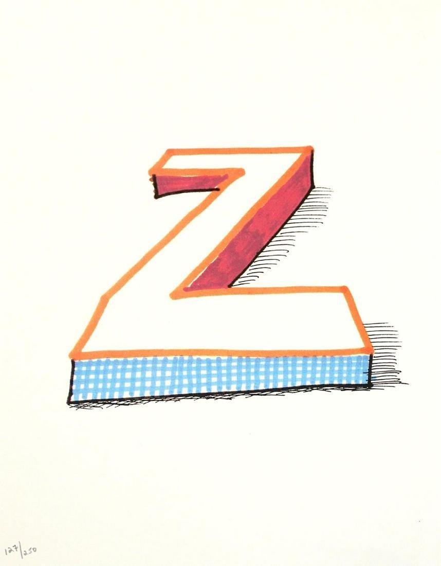 """David Hockney - Letter Z from """"Hockney"""