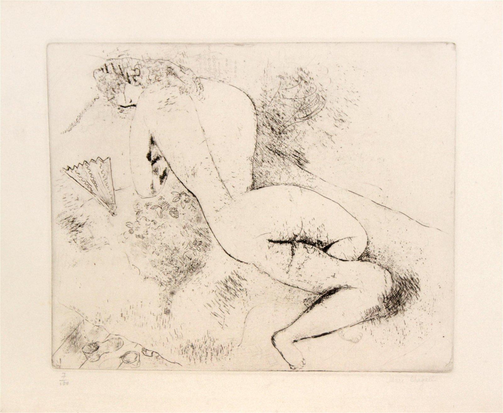 Marc Chagall - Femme a l
