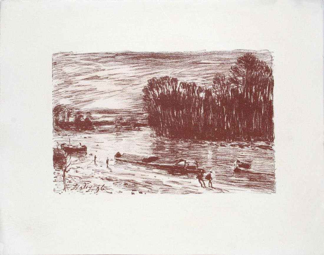 Alfred Sisley - Banks of the Loing
