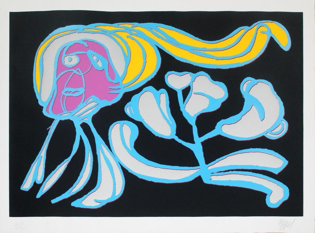 Karel Appel - Floating Black Passion