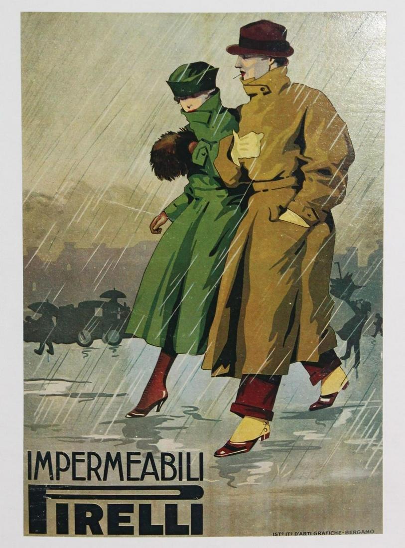 Vintage Poster - Impermeabili Pirelli
