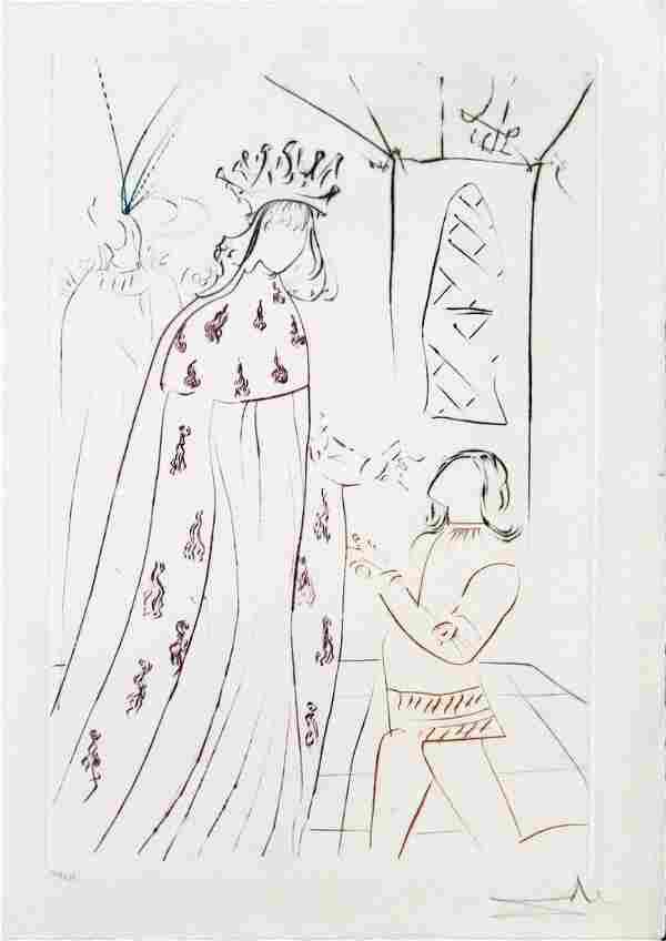 """Salvador Dali - Untitled frm """"La Quete du Graal"""""""