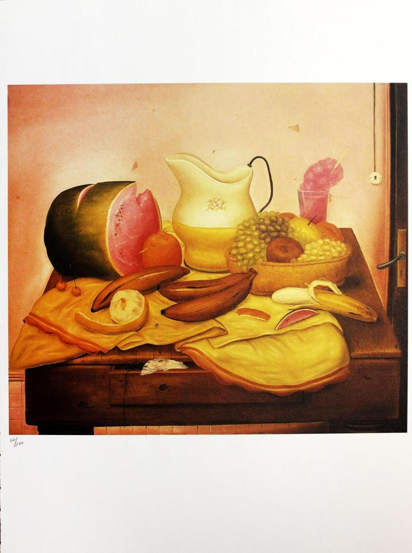 Fernando Botero (after) - Still Life with a Watermelon