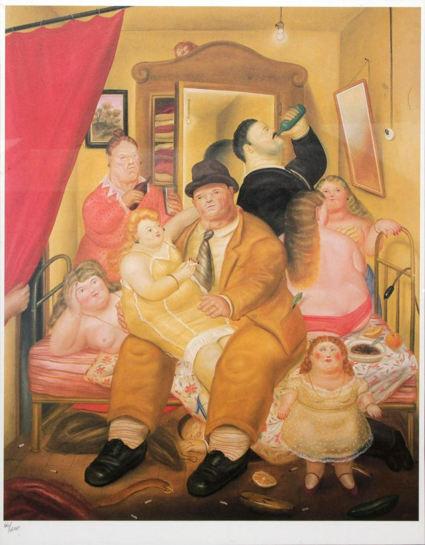 Fernando Botero (after) - The House of the Arias Twins