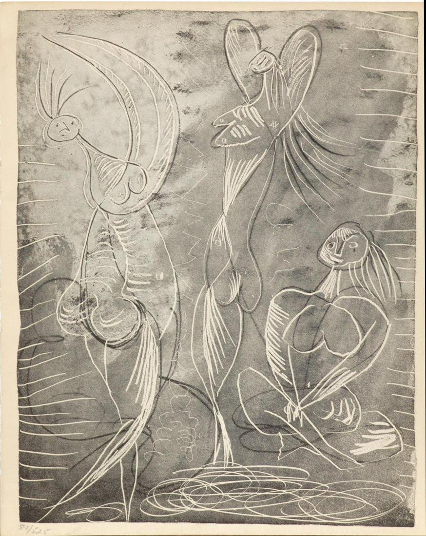 Pablo Picasso - Seated Woman and Two Dancers