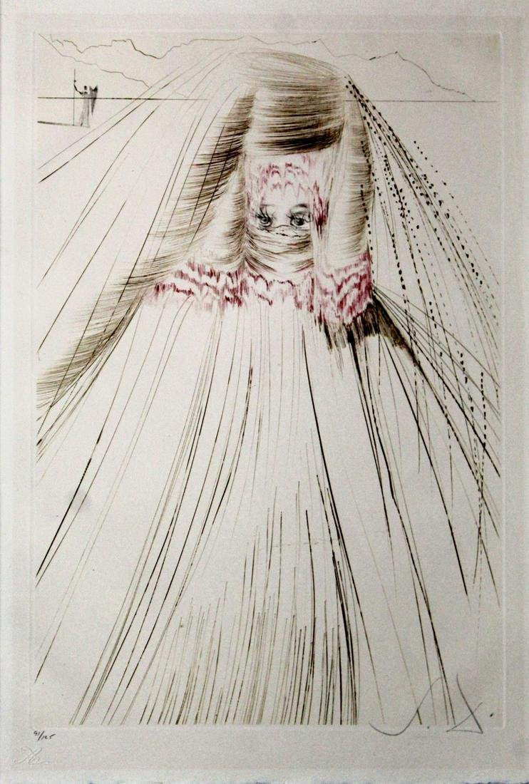 Salvador Dali - The Queen with Silk Tunic