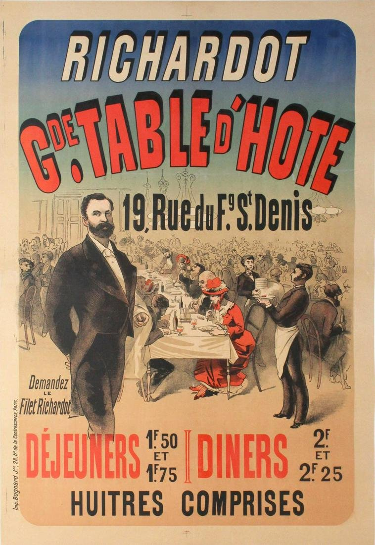 Vintage Poster - French Hall Poster