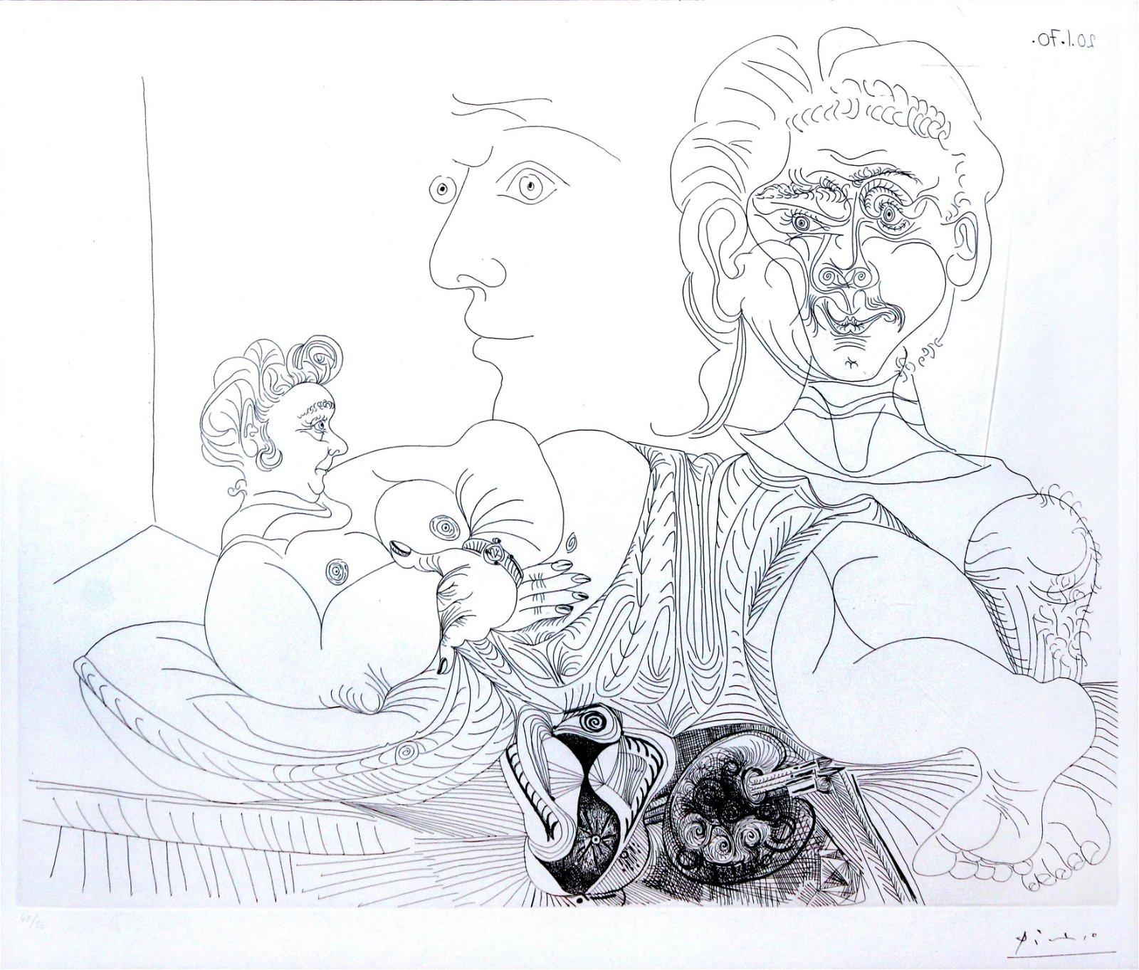 Pablo Picasso - Vieux Modele Pour Jeune Odalisque