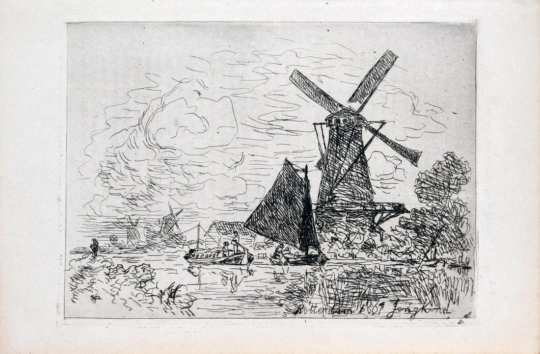 Johan Barthold Jongkind - Moulins en Holland