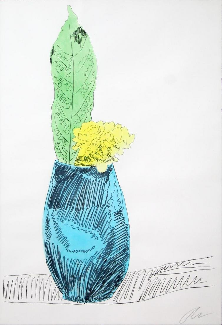 Andy Warhol - Flowers Unique (Hand Colored)