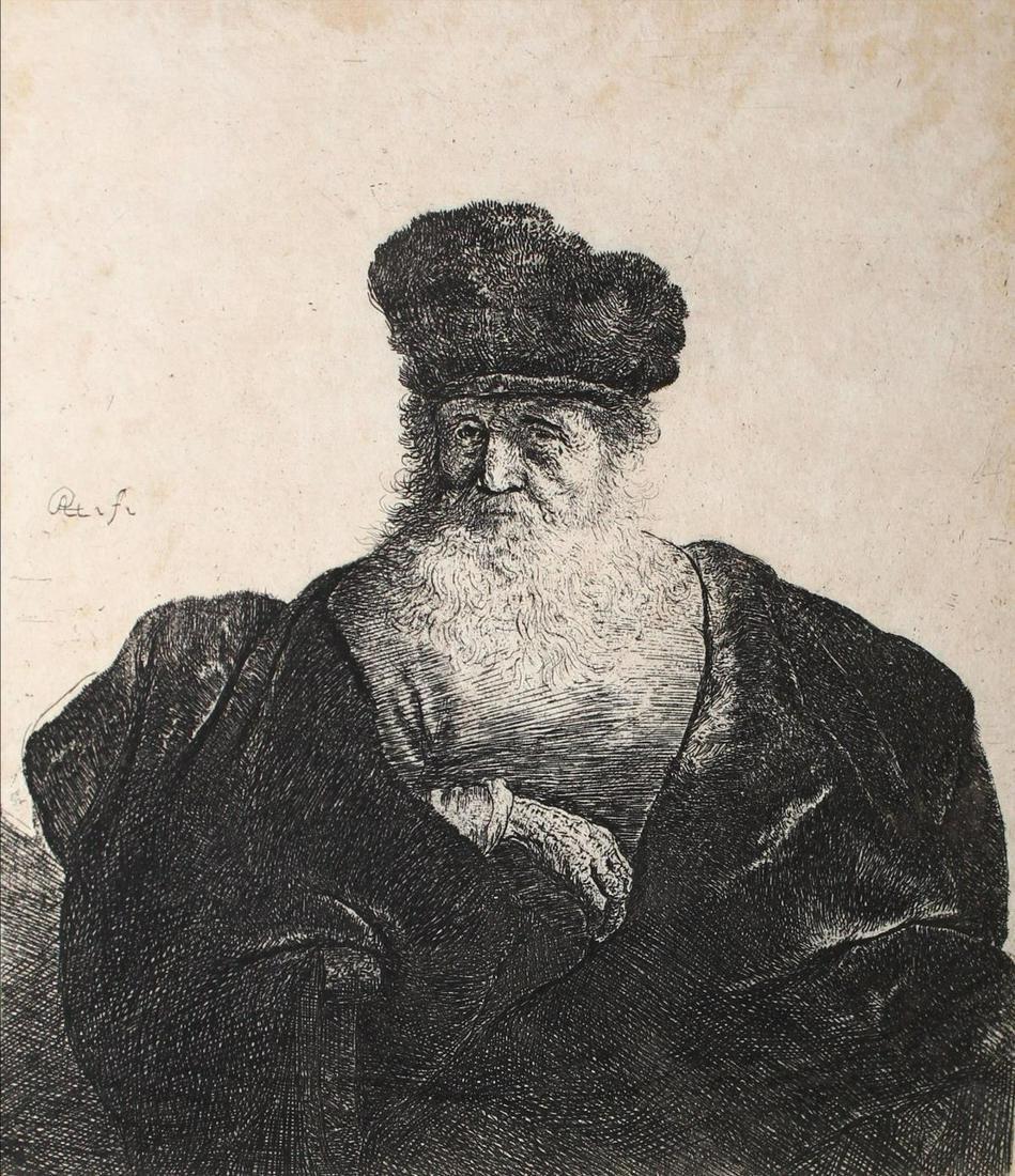 Rembrandt van Rijn - An Old Man with a Beard Fur Cap