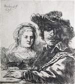 Rembrandt van Rijn  Rembrandt and his Wife Saskia