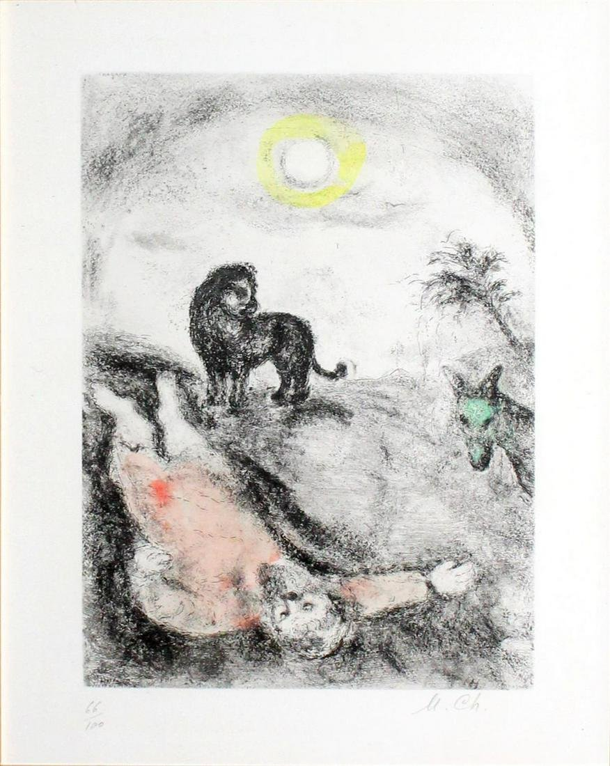 Marc Chagall - Prophet Killed by a Lion