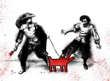 Mr. Brainwash - Watch Out! (Large Red)