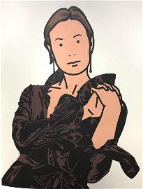 Julian Opie - Anya with hands together
