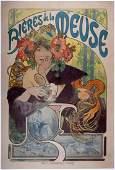 Alphonse Mucha - 'Bières de la Meuse'