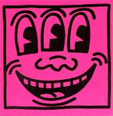 "Keith Haring - 3 Eyed Smiley from ""Tony Shafrazi"""