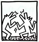 Keith Haring - Untitled (Howling Dogs)