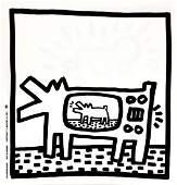 Keith Haring - Untitled (TV Dog)
