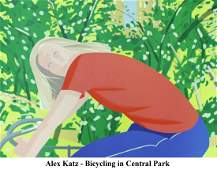 Alex Katz - Bicycling in Central Park