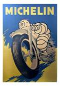 Michelin - Motorcycle Ad (Vintage Poster)
