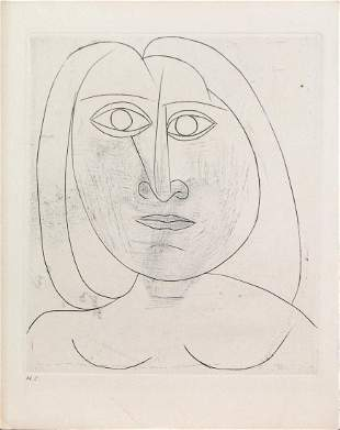 Pablo Picasso - Head of a Young Girl III