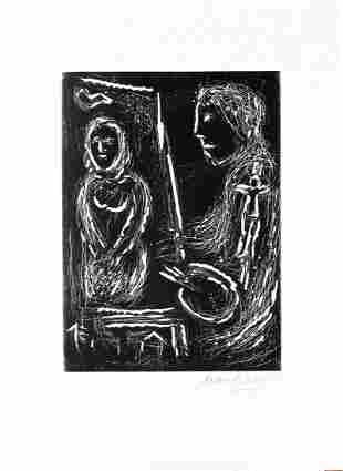 Marc Chagall - Ton Visage dans les Fleurs Fraiches
