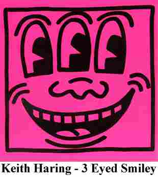 Keith Haring - Untitled (3 Eyed Smiley)