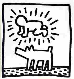 Keith Haring - Untitled (Man and Dog)