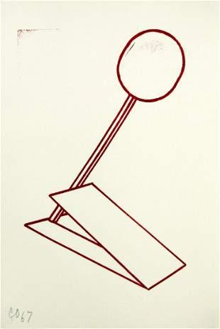 Claes Oldenburg - Untitled Rubber Stamp Print
