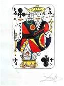 Salvador Dali  King of Clubs