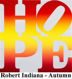 Robert Indiana - Autumn (Four Seasons of Hope, Silver)