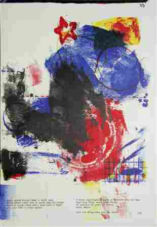 """Robert Rauschenberg - """"Untitled"""" from One Cent Life"""
