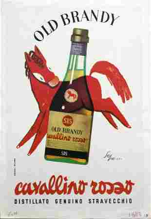 Vintage Poster - Italian Brandy Ad