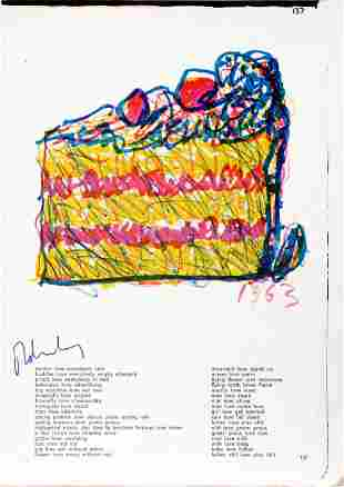 """Claes Oldenburg - Slice of Cake from """"One Cent Life"""""""