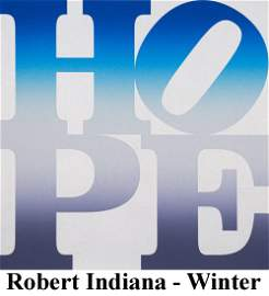 Robert Indiana - Winter (Four Seasons of Hope, Silver)