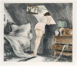 Louis Icart - Attic Room