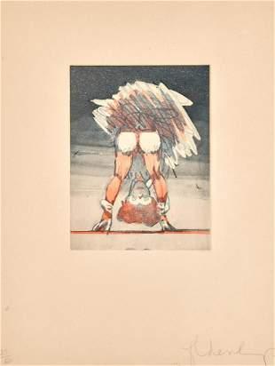 Claes Oldenburg - Figure Looking Through Legs