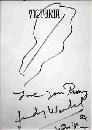 Andy Warhol - Untitled Drawing on Cover Page
