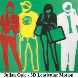 """Julian Opie - Red Yellow Black White from """"Standing"""