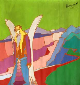 Peter Max - Large Original Acrylic Painting on Canvas