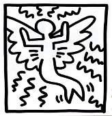 Keith Haring - Untitled (Mermaid Flyer)